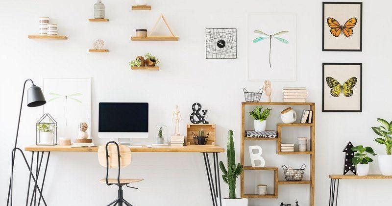 Home office wall decor ideas