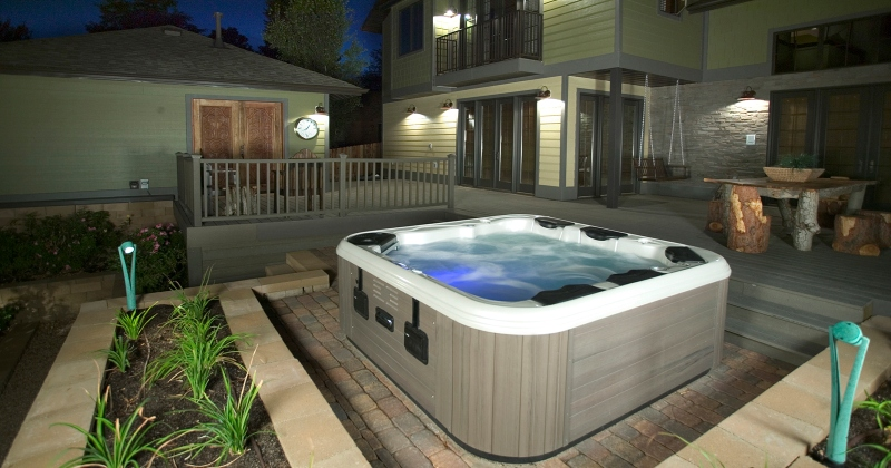 Hot tub backyard design ideas
