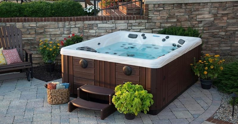 Hot tub backyard design