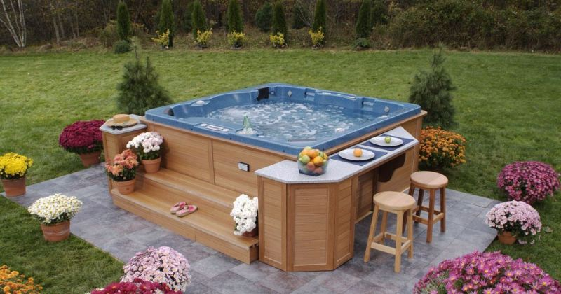 Hot tub landscape design