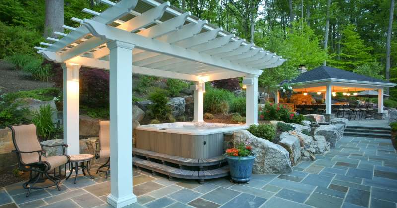 Hot tub patio design