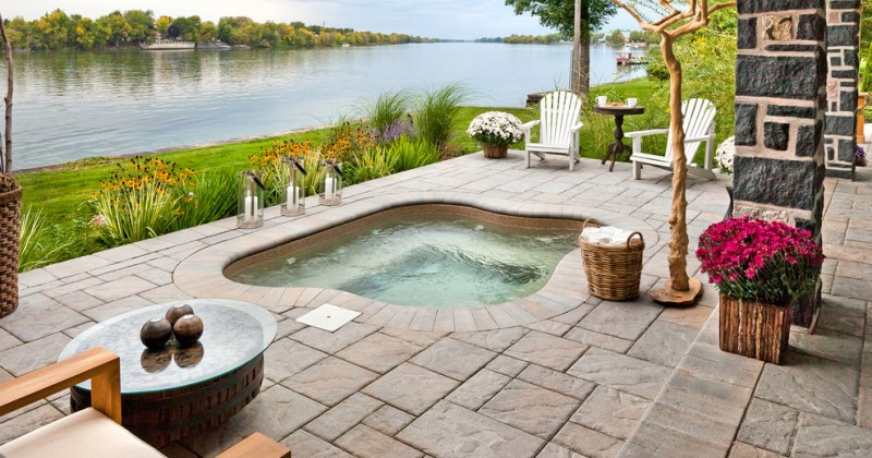 Hot tubs in ground design
