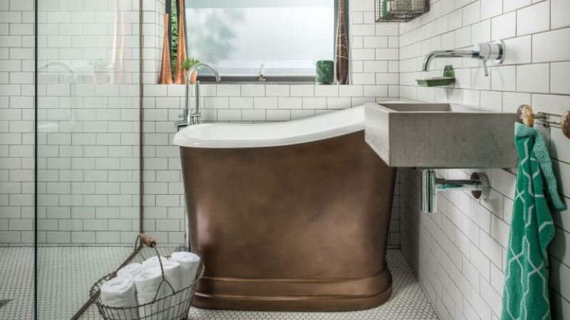 Image of small bathroom design
