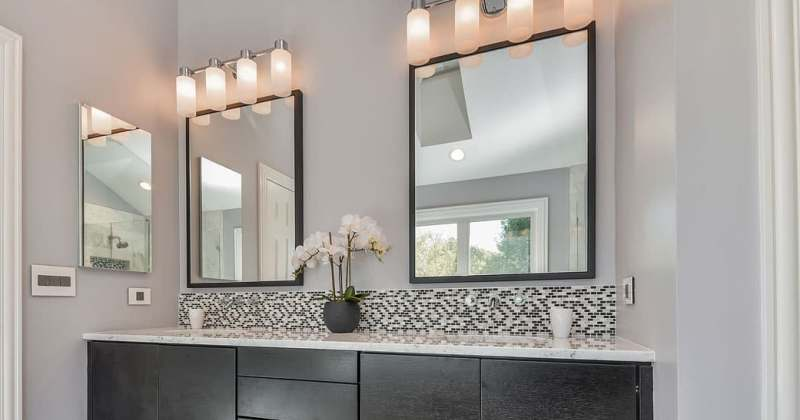 Install Mirrors with Beautiful Frames