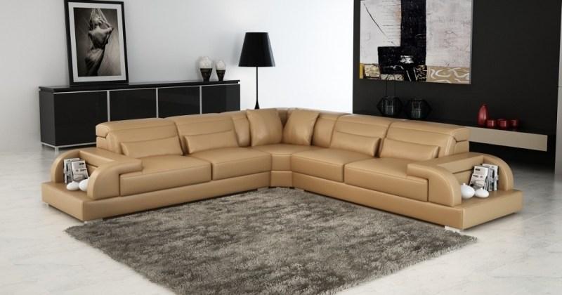 Leather corner sofa modern