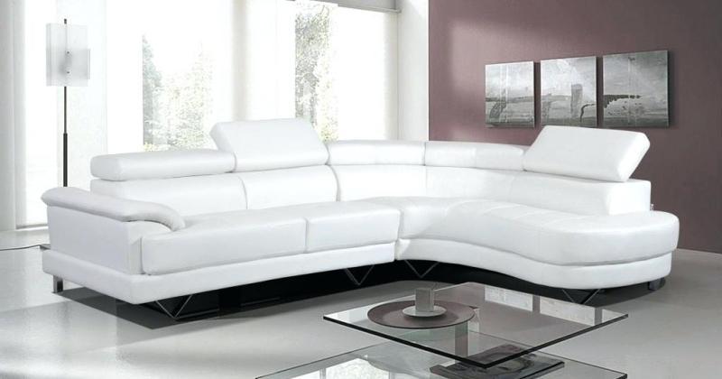 Leather corner sofa white