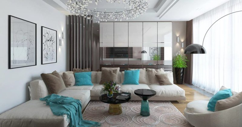 Living room interior modern design