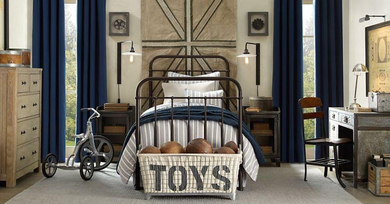 Masculine little boy bedroom
