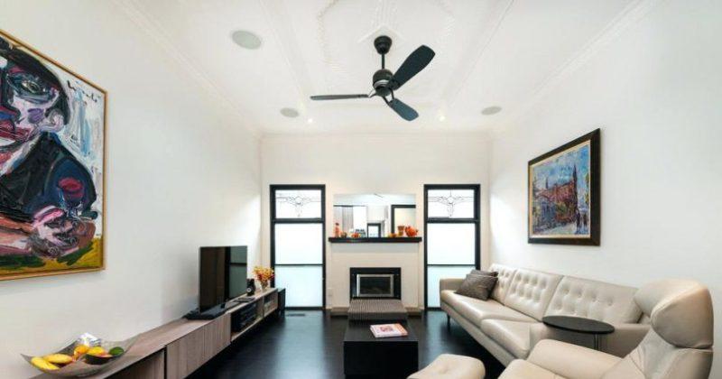 Modern ceiling fan black