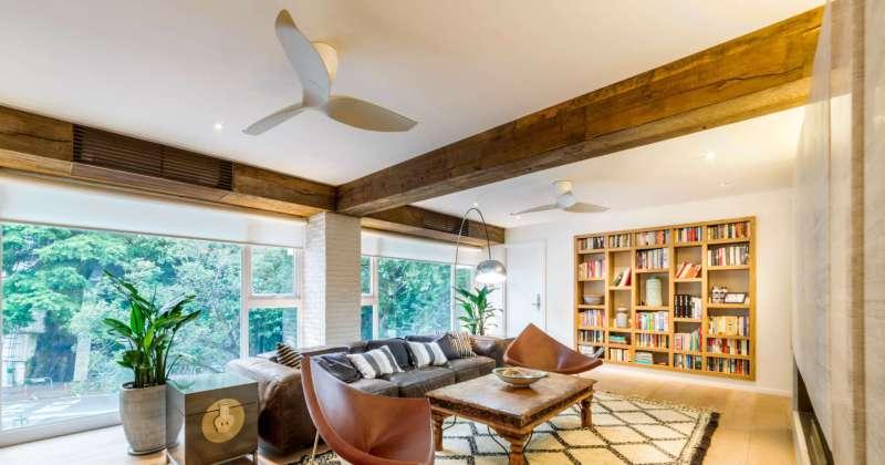 Modern ceiling fan interior design