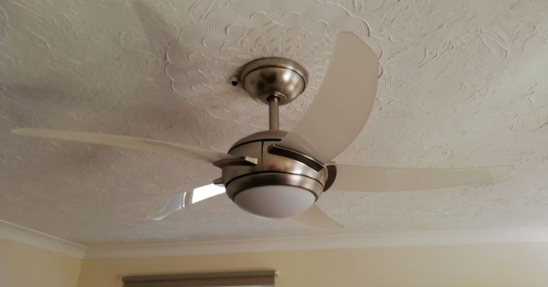 Modern ceiling fan with dimmable light