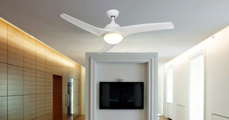 Modern ceiling fan with led light and remote