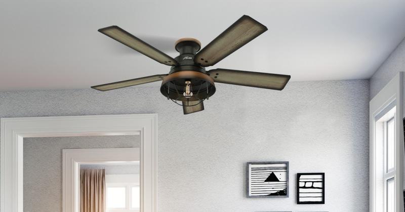 Modern ceiling fan with light