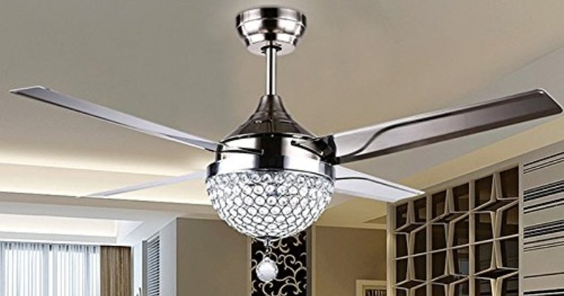 Modern ceiling fan with remote control