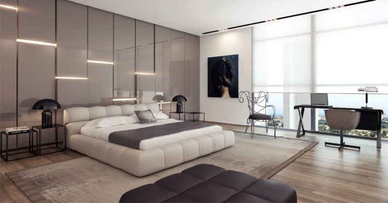 Modern cool bedroom design