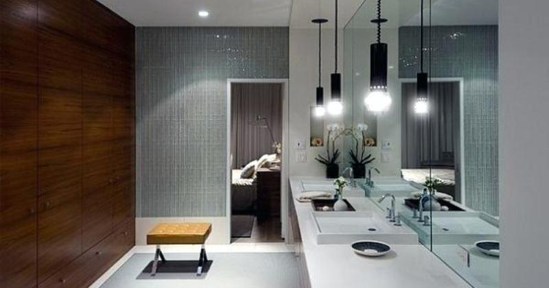 Modern pendant lighting for bathroom