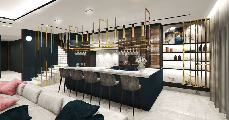 Modern residential bar design