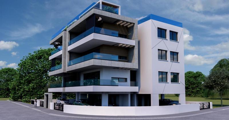 Modern residential building facades
