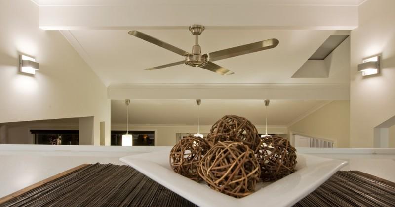 Modern traditional ceiling fan