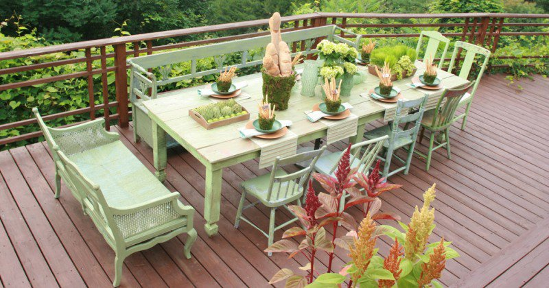 Outdoor furniture colour ideas