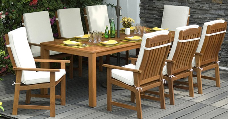 Outdoor wooden furniture ideas