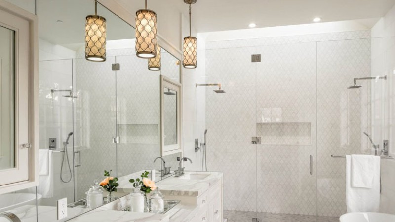 Pendant lighting for the bathroom