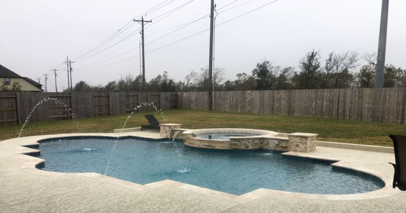 Power lines near swimming pools