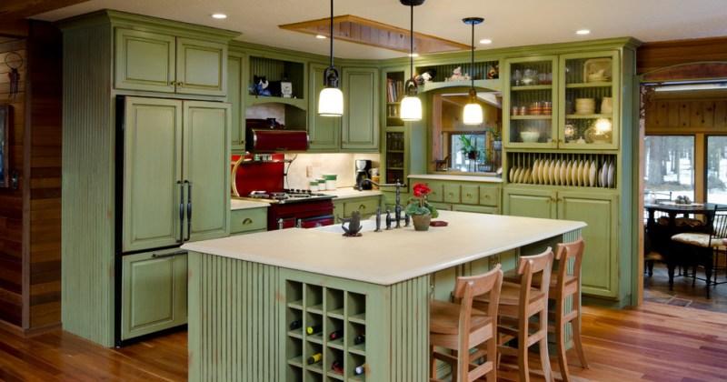 Refacing kitchen cabinet doors with beadboard