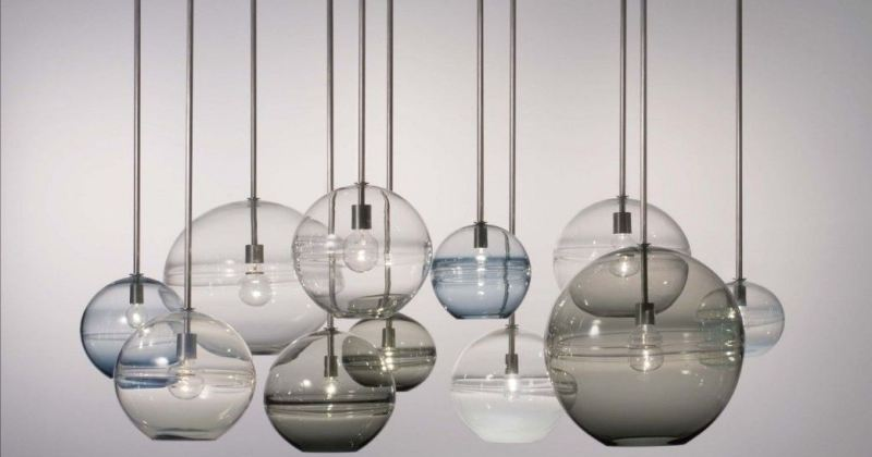Rustic blown glass pendant lights
