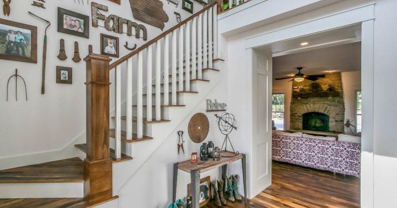 Rustic farmhouse staircase