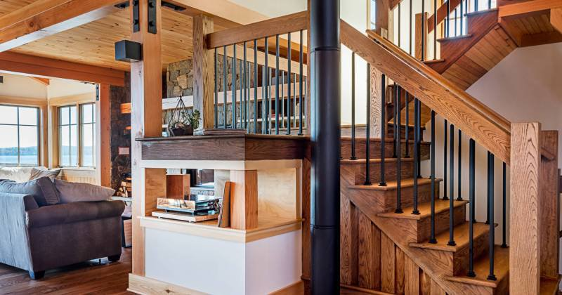 Rustic modern staircase