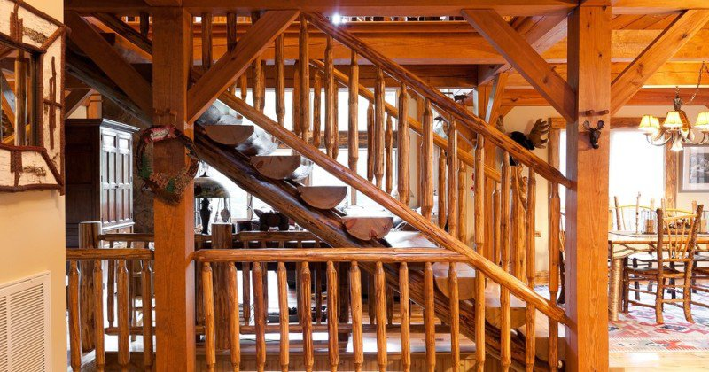 Rustic staircase ideas design