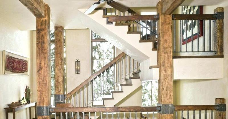 Rustic staircase railing ideas
