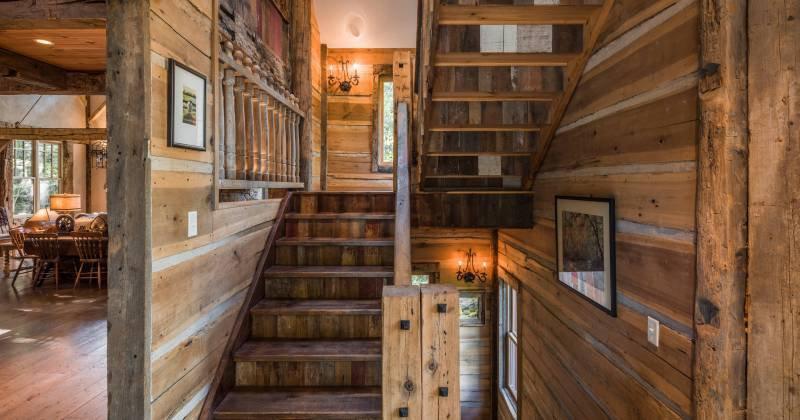 Rustic stairway ideas