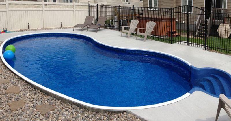 Semi inground pools cost