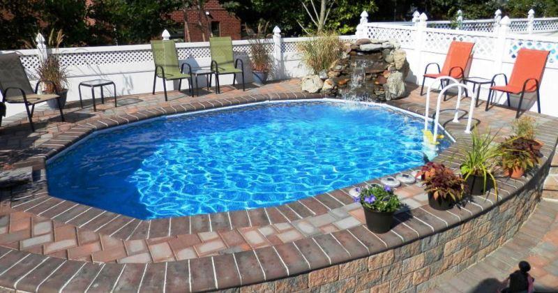 Semi inground pools ideas