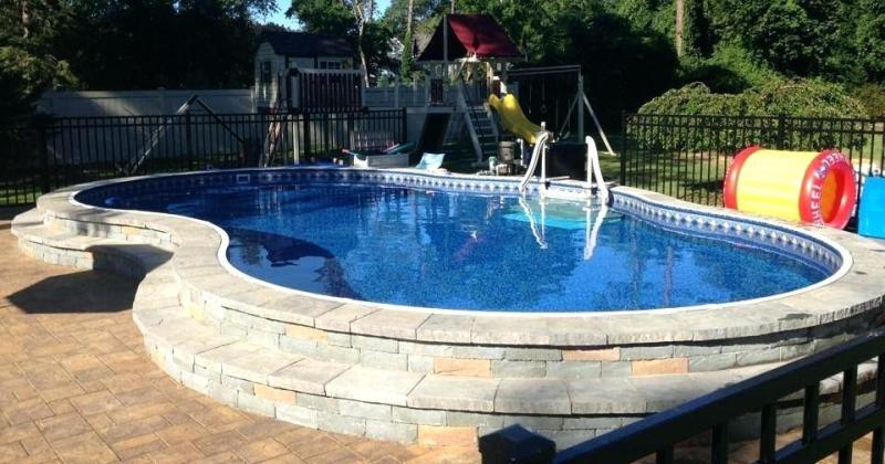 Semi inground pools near me