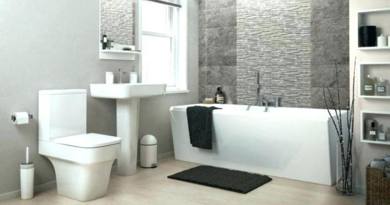 Small bathroom design with bath