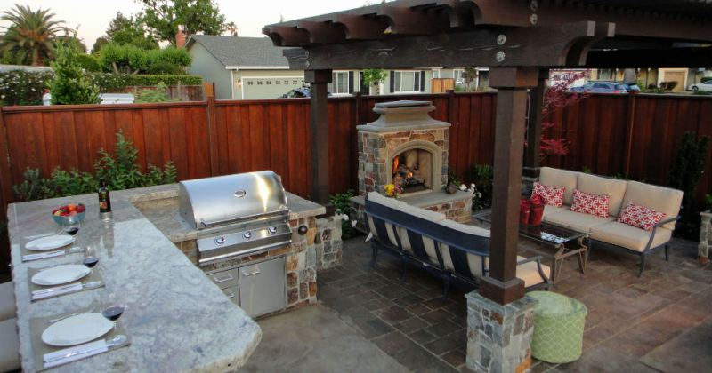 Small outdoor living space