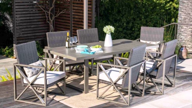 Small space outdoor dining set