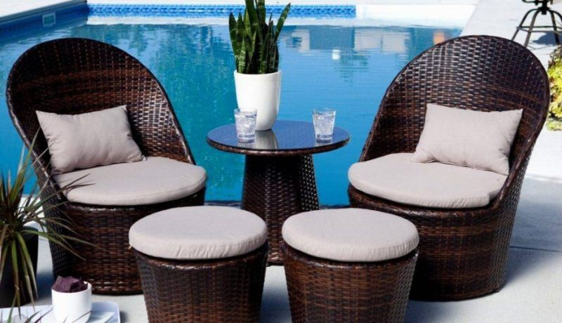Small space outdoor patio furniture