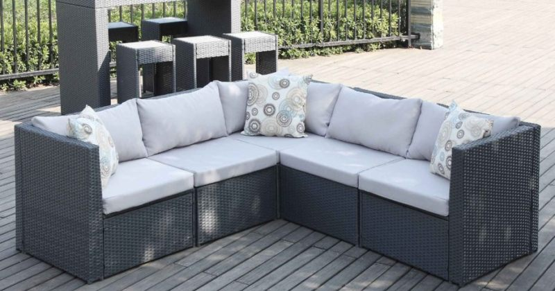 Small space outdoor sectional