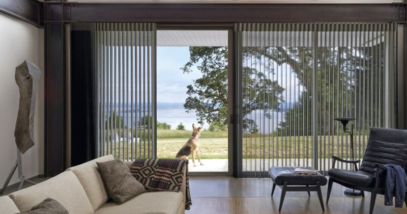 Window treatment ideas sliding glass door
