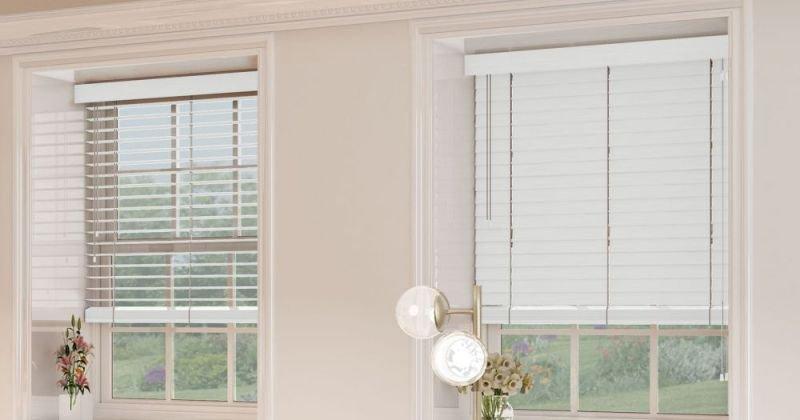 Wood venetian blinds white