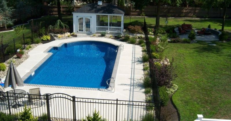 Around pool landscaping ideas