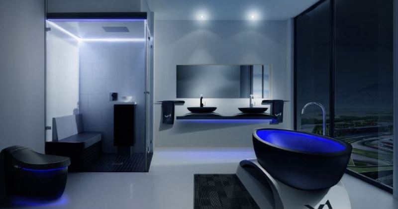 Bathroom futuristic design