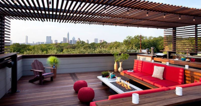 Beautiful big terrace ideas