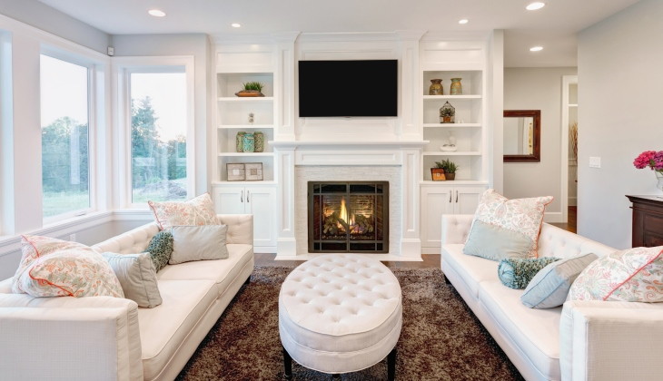 Beautiful living rooms with fireplaces