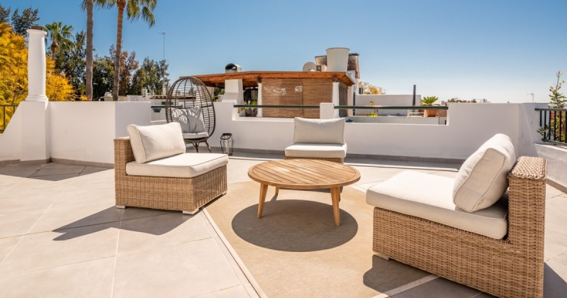 Beautiful roof terrace design