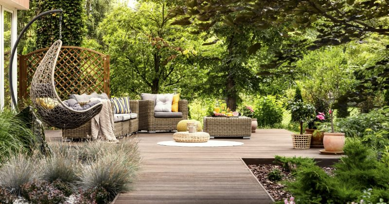 Beautiful terrace garden photos